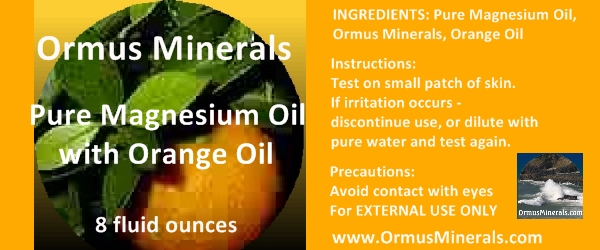 Ormus Minerals Magnesium Oil with Orange Oil